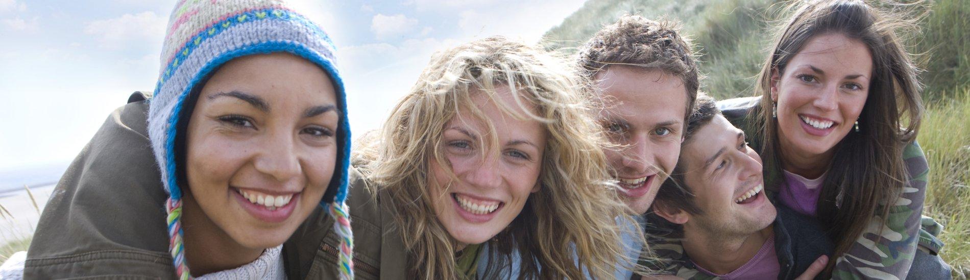 <!-- home page slide -->girls on hillside